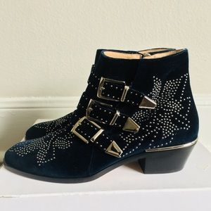 Chloe suzanna velvet boots sz 37.5